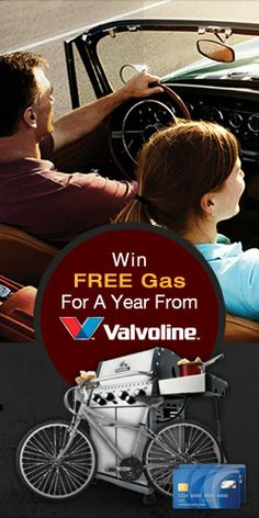 Enter to #Win FREE #Gas for a Year from #Valvoline! #contest #car #sweepstakes VALID UNTIL JUNE 30