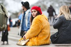London Street Style That Just Oozes Cool #refinery29  http://www.refinery29.com/2016/02/103453/london-fashion-week-fall-winter-2016-street-style-pictures#slide-24  How Margot Tenenbaum would do London Fashion Week....