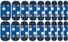 Doctor Who TARDIS nail wraps. Able to be ordered at dmays.jamberrynails.net or through my Facebook page: DeAnna Mays - Jamberry Independent Consultant