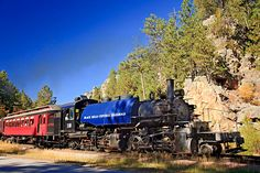 Steam train in the Black Hills of South Dakota.