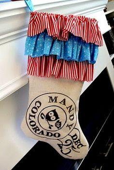 Ruffled Postage stocking