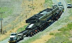 Specialized trailer for transporting giant nuclear power plant generators    Perkins Specialized Transportation Contracting used model-bas...