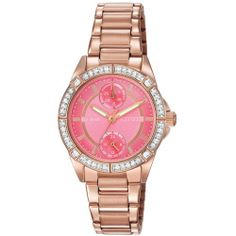 Ladies' Drive from Citizen Eco-Drive POV Rose Gold-Tone Coral Dial Watch