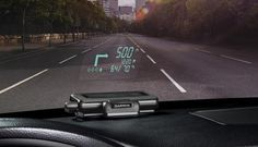 Elevating navigation data into the driver's line of sight, Garmin's first-ever head-up display aims to reduce distraction, and it looks pretty cool.