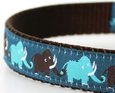 Wooly Mammoth Dog Collar / Adjustable by daydogdesigns on Etsy, $17.50