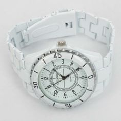 Fashion Quartz Lady  White Wrist Watch