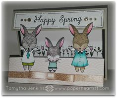 "February's CTMH Stamp of the Month (S1702) Blog Hop...""Easter Bunny"". Using products from Close To My Heart, including ""Hello Lovely"" pattern paper and Shin Han alcohol markers. Created by Tamytha Jenkins of paperheartist.com"