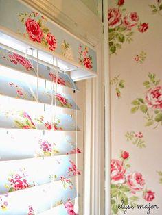 Decoupage window blinds