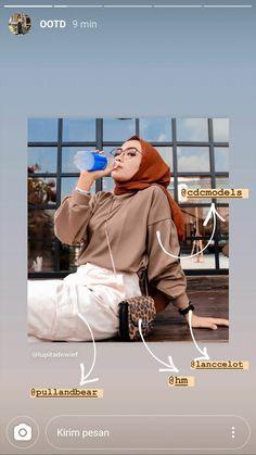 Casual Hijab Outfit, Ootd Hijab, Hijab Chic, Casual Outfits, Fashion Outfits, Womens Fashion, Hijab Fashion Inspiration, Ulzzang Fashion, Muslim Fashion