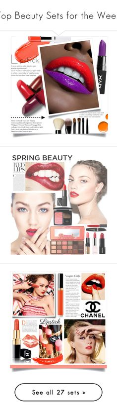 """Top Beauty Sets for the Week"" by polyvore ❤ liked on Polyvore featuring beauty, NYX, Bobbi Brown Cosmetics, Topshop, polyvoreeditorial, polyvorecontest, fashion_addict, Too Faced Cosmetics, Guerlain and NARS Cosmetics"
