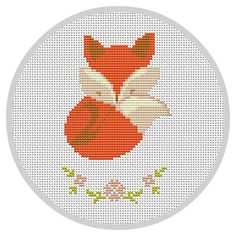 Cute Sleepy Fox Cross stitch pattern Counted cross von Xrestyk