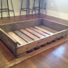 "Solid Wood ""pallet style"" dog bed"