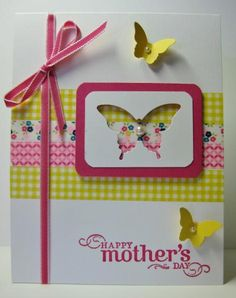 Washi Tape Butterfly Card by Barb Mann - Cards and Paper Crafts at Splitcoaststampers