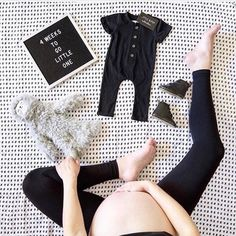 The countdown to baby is on! Such a good assortment of gender neutral baby items here! #genderneutralbabyclothes