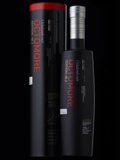 Bruichladdich Octomore Edition: 06.2 Octomore, the world's most heavily peated whisky, matured in Limousin Oak casks previously used for Eaux de Vie.