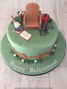 Retirement cake Cake and Cookie Ideas Pinterest Retirement