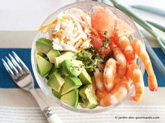 Salade Avocats, Crevettes, Pamplemousse - Jardin des gourmandsJardin des gourmands Cobb Salad, Entrees, Shrimp, Annie, Salads, Lobbies, Appetizers, Appetizer, Main Course Dishes