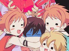 Ouran High School Host Club (Hehe Hikaru, Kaoru, Haruhi, and Hunny)
