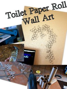 How to make toilet paper roll wall art