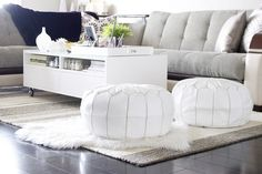 Gray and White living room decor