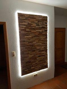 Backlight Backlight The post Backlight appeared first on Wandgestaltung ideen. Wooden Wall Decor, Wooden Walls, Wood Wall Art, Wall Art Designs, Wall Design, House Design, Diy Home Decor, Room Decor, Pallet Walls