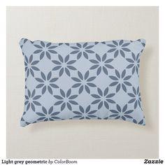 Light grey geometric accent pillow Soft Pillows, Accent Pillows, Throw Pillows, Grey Home Decor, Grey Cushions, Shop Lighting, Slate, Soft Fabrics, Monogram