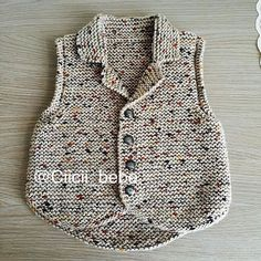 Knitted Baby Cardigan With Pocketunisex