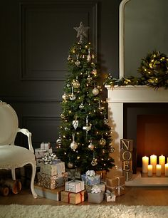 6ft Slim Highland Green Christmas Tree M S