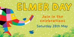 We're very excited about #ElmerDay! Hundreds of libraries and bookshops are hosting Elmer Day events on 28th May. To find an event happening near you, take a look at our Elmer Day map: elmer.co.uk/elmerday/lookup