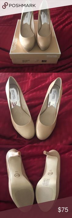 MICHAEL MICHAEL KORS nude pumps! Brand new never worn MICHAEL MICHAEL KORS nude pumps, round toe, patent leather! Size 10! Open to offers! Offer a discount when you bundle! 👠 MICHAEL Michael Kors Shoes Heels