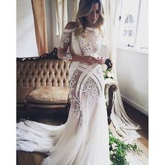 """If the words """"gorgeous long sleeve wedding dress"""" set your heart racing, you're in for a treat. Find your perfect long-sleeve wedding dress! Tulle Wedding Gown, Wedding Dress Train, Wedding Dresses 2018, Lace Mermaid Wedding Dress, Wedding Dress Trends, Wedding Dress Sleeves, Bridal Dresses, Maternity Wedding, Lace Wedding"""