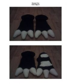Monster Feet slippers - Free Pattern - how fun are these?