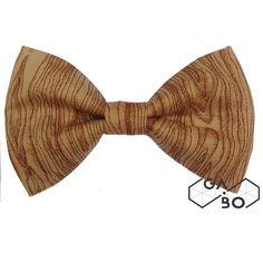 Gravata Borboleta Wood