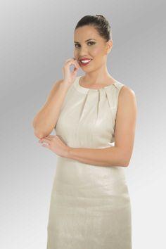 Vestido Clyde #moda #lino #SS2014 www.abito.com.mx