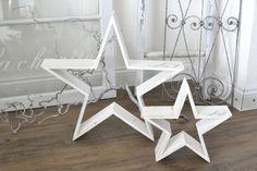 Weihnachtsdeko - XL-Shabby- Sternen-Set zu Aufstellen - ein Designerstück von himmelweiss bei DaWanda
