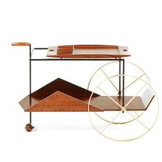 Tea Trolly by Jorge Zalszupin  Brazil, 1950