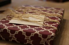 Masculine Gift Wrap using Twine | Flickr - Photo Sharing!
