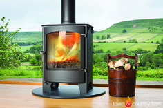 Double sided Welburn multi fuel stove - wood burning stove