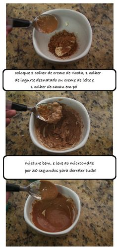 Receita do dia: mousse de chocolate dukan - Saboridades