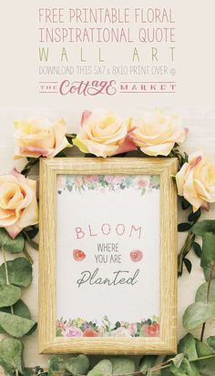 Free Printable Floral Inspirational Quote Wall Art #FreePrintable #FreePrintableInspirationalQuote #FreePrintables #FreeWallArt #Roses #RoseArt #FreePrintableRoseArt #FreePrintableWallArt #InspirationalQuote