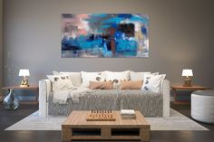 Items similar to Large Modern Wall Art Painting,Large Abstract wall art,texture art painting,abstract originals,bathroom wall art on Etsy Large Abstract Wall Art, Large Painting, Texture Painting, Texture Art, Painting Abstract, Painting Art, Knife Painting, Office Wall Art, Home Decor Wall Art