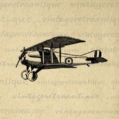 Classic Airplane Graphic Printable Download Antique Plane Image Digital. High quality printable digital graphic. This vintage digital image is great for iron on transfers, printing, pillows, and much more. Great for use on etsy items. This image is high quality at 8½ x 11 inches large. Transparent background PNG version included.