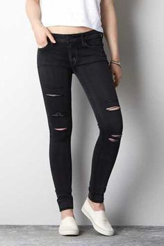 Love ripped black jeans... need a pair!