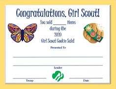 Brownie Girl Scouts, Girl Scout Cookies, Girl Scout Juniors, Daisy Girl Scouts, Cookie Time, Senior Girls, Entrepreneurship, Congratulations, Young Women