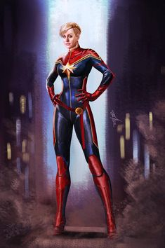 Captain Marvel (Carol Danvers) becomes one of the universe's most powerful heroes while Earth is in a galactic war with aliens. Ms Marvel Captain Marvel, Captain Marvel Trailer, Marvel Comics, Captain Marvel Carol Danvers, Marvel Fan Art, Marvel Heroes, Marvel Universe, Ms Marvel Cosplay, Culture Pop