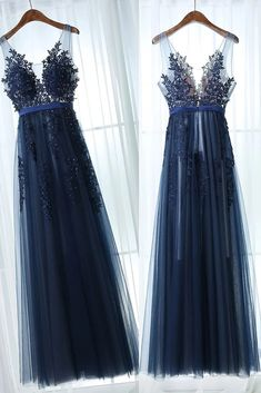 Dark Blue Tulle Lace Long Prom Dress,Dark Blue Bridesmaid Dress,Backless Long Lace Prom Dresses,Open on Luulla Tulle Prom Dress, Lace Dress, Tulle Lace, Beaded Lace, Knit Dress, Dark Blue Bridesmaid Dresses, Dark Blue Dresses, Bridesmaid Gowns, See Through Prom Dress
