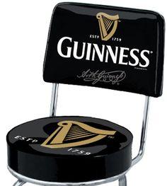Arthur Guinness Extra Stout Irish Ale Beer Harp Swivel Bar Stool Pub Chair Seat | eBay