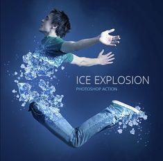 Ice Explosion Photoshop Action
