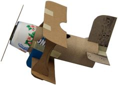 DIY CRAFT ** Toilet paper rolls ** High up in the sky . A toilet roll that flies diy Toilet Paper Roll Crafts, Cardboard Crafts, Paper Crafts, Diy Crafts, Cardboard Airplane, Burlap Crafts, Fun Crafts For Kids, Diy For Kids, Arts And Crafts