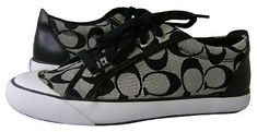 Coach Barret Ii Sneakers Womens 85 BlackWhite >>> Learn more by visiting the image link. (This is an affiliate link) #WomenFashionSneakers